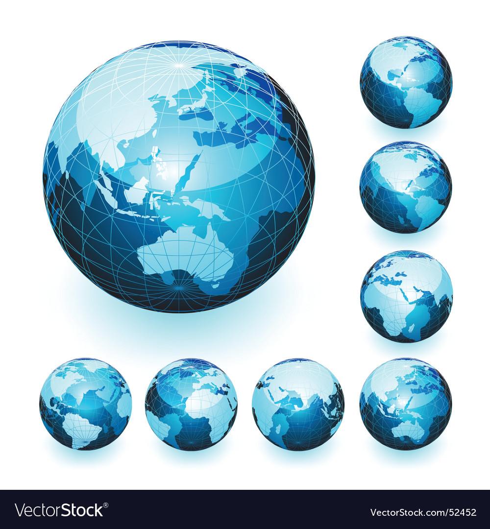 World globes vector | Price: 1 Credit (USD $1)