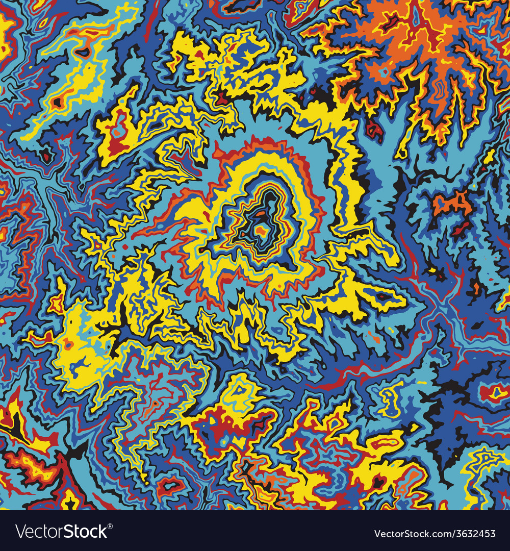 Abstract earth relief map color madness vector | Price: 1 Credit (USD $1)