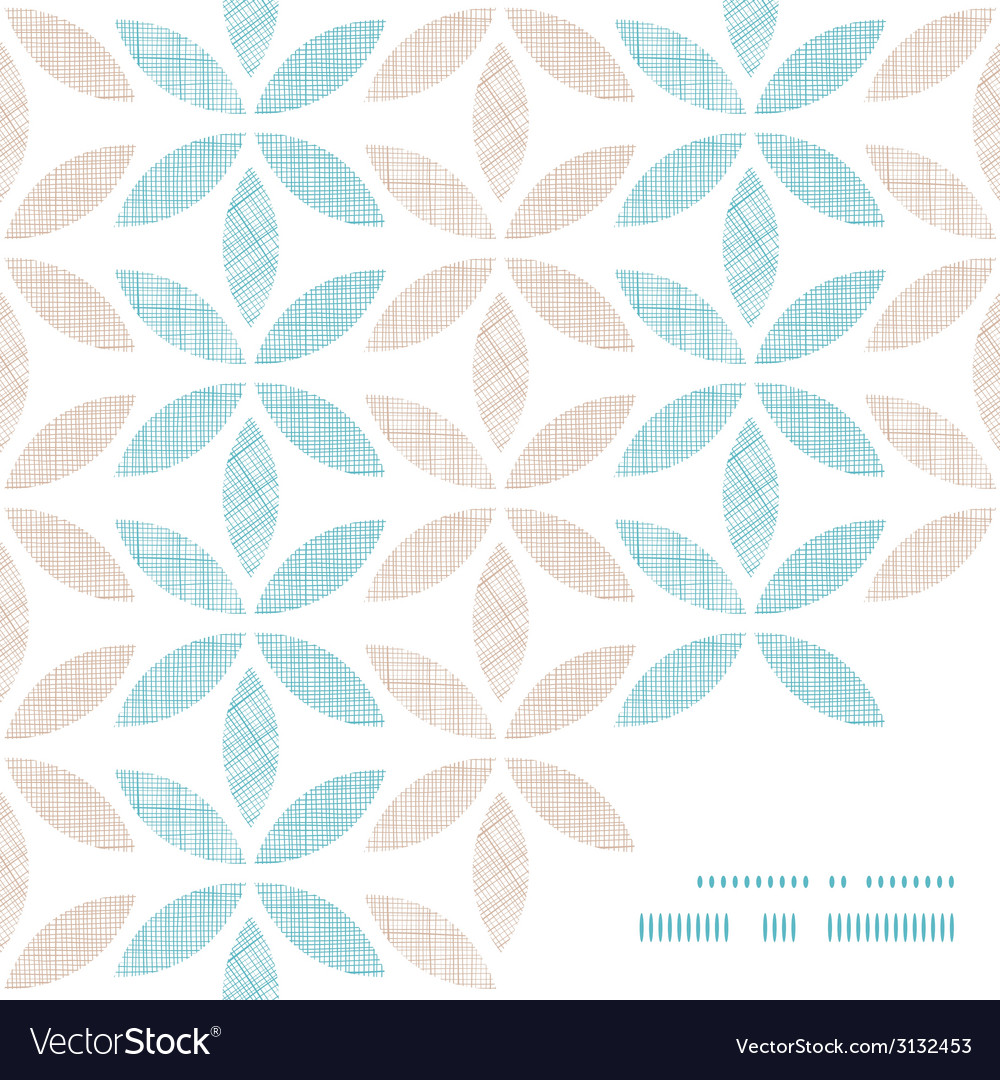 Abstract textile leaves stripes frame corner vector | Price: 1 Credit (USD $1)