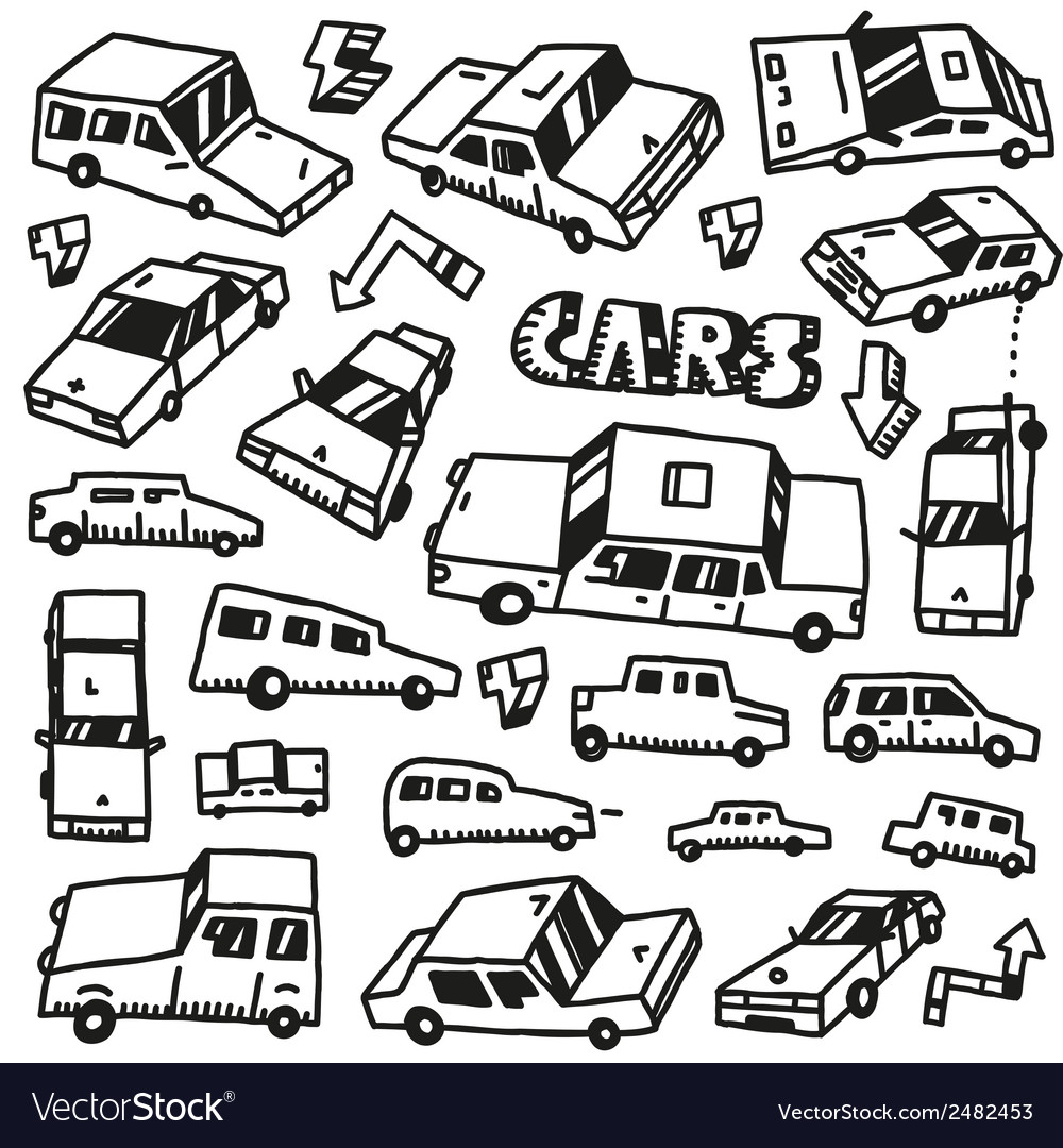 Cars - doodles set vector | Price: 1 Credit (USD $1)