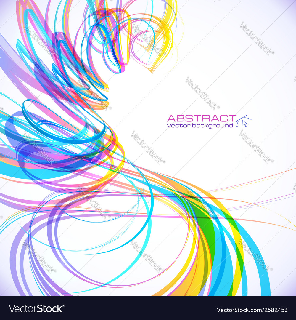 Colorful abstract technology spiral background vector | Price: 1 Credit (USD $1)