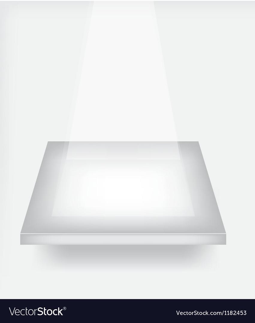 Empty shelf for exhibit vector
