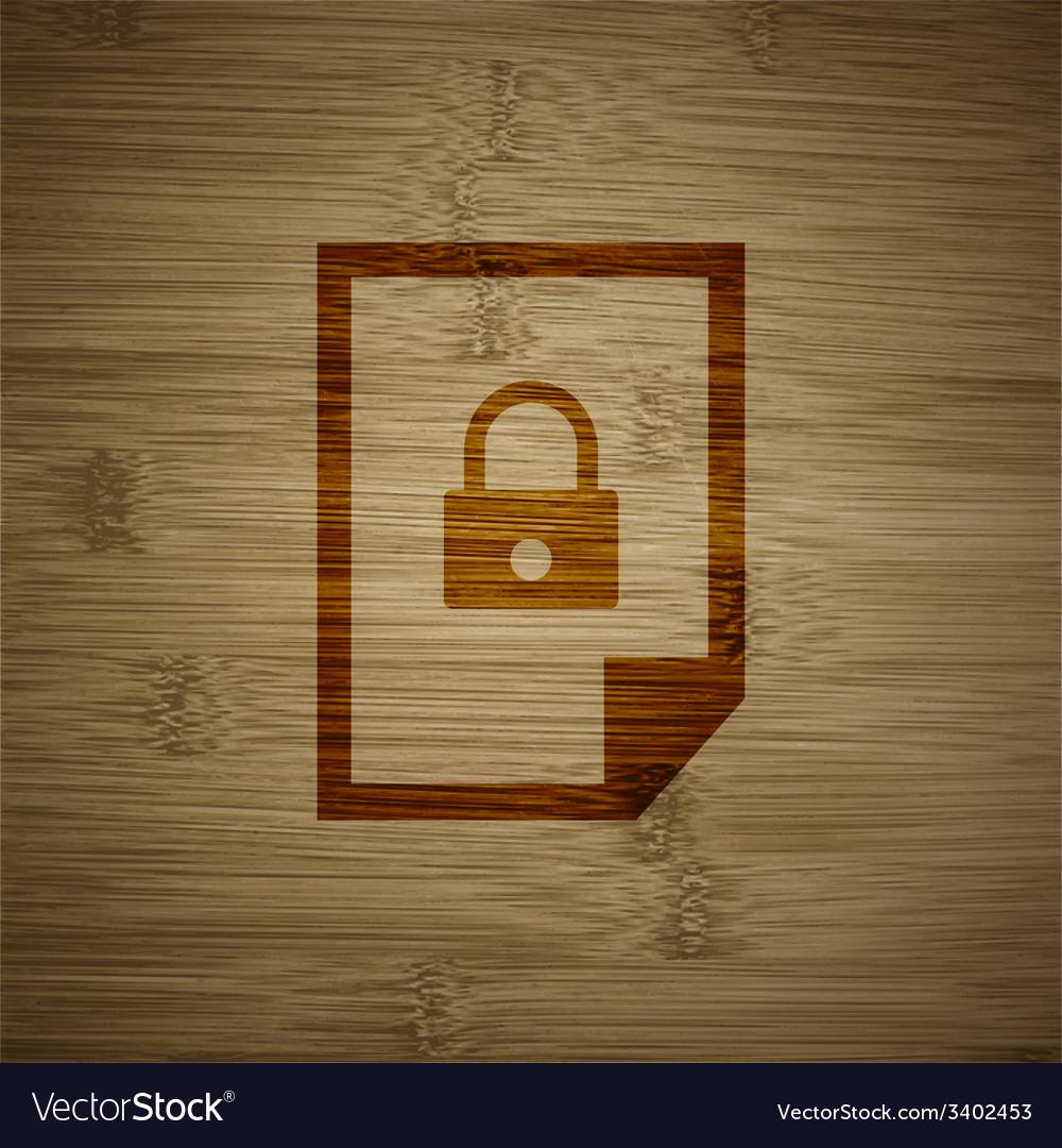 File locked icon symbol flat modern web design vector   Price: 1 Credit (USD $1)
