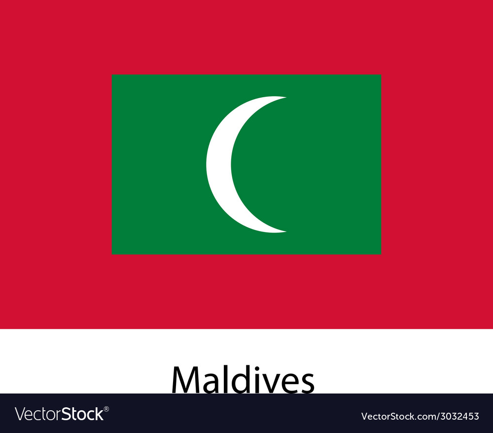 Flag of the country maldives vector | Price: 1 Credit (USD $1)