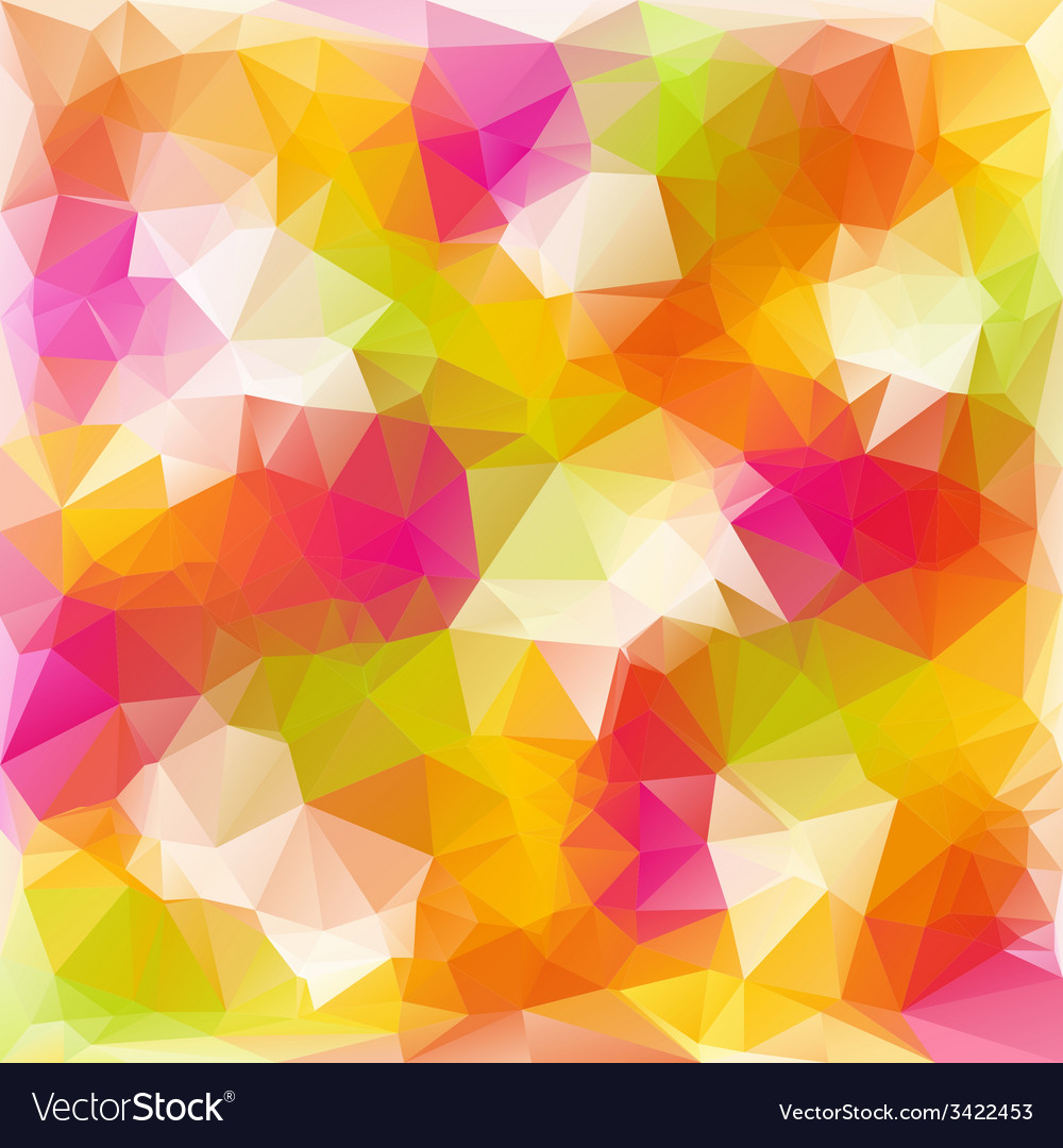 Full color spring polygonal triangular pattern vector | Price: 1 Credit (USD $1)