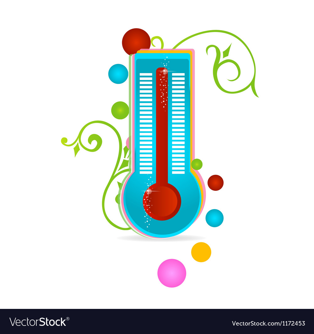 Medical thermometer sign isolated vector | Price: 1 Credit (USD $1)