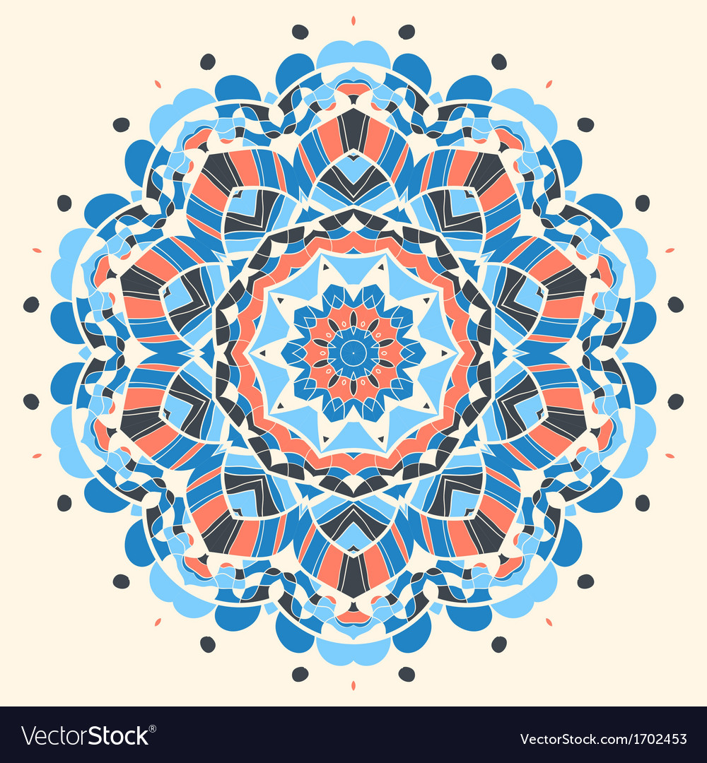 Oriental mandala motif vector | Price: 1 Credit (USD $1)