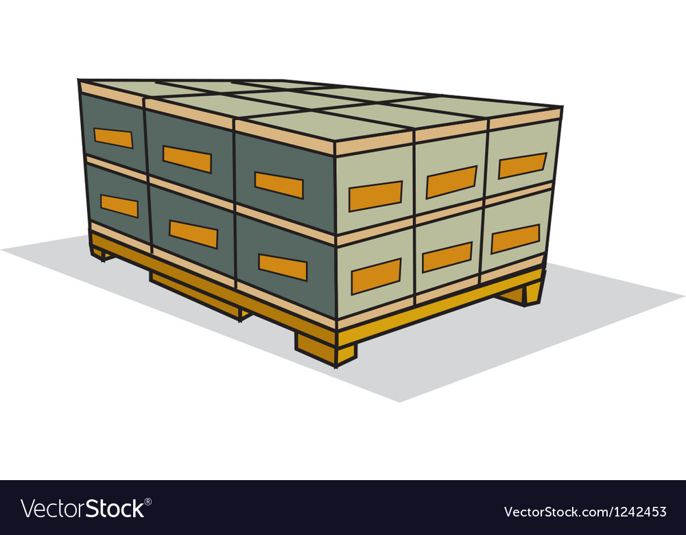 Pallet of boxes vector | Price: 1 Credit (USD $1)
