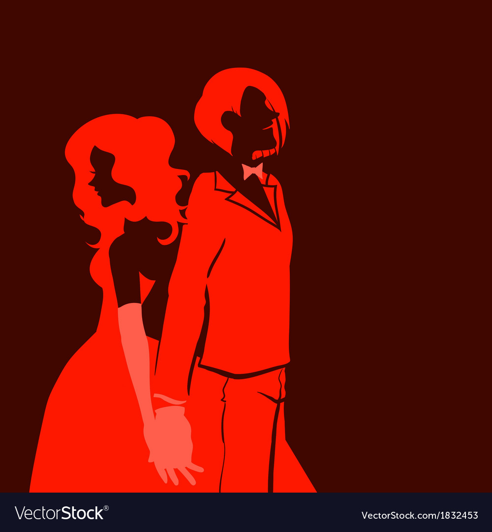 Silhouette of man and woman vector | Price: 1 Credit (USD $1)