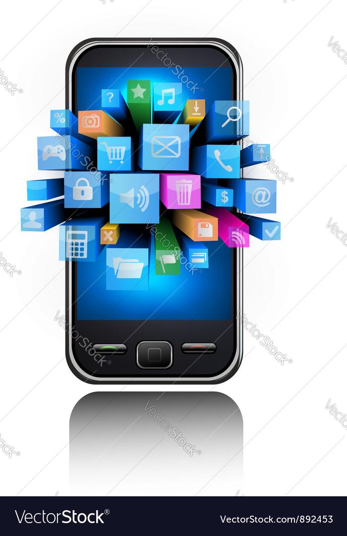 Smartphone background vector | Price: 1 Credit (USD $1)