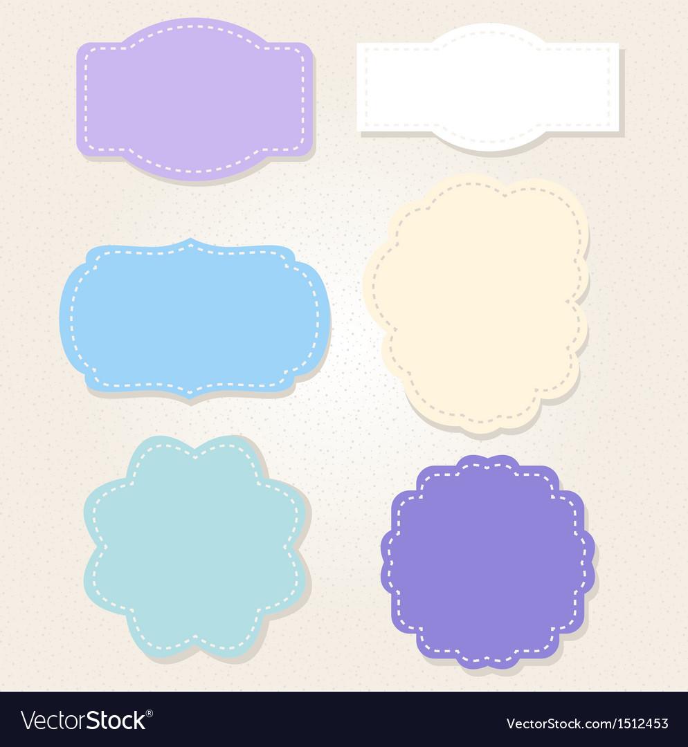 Sweet vintage blue labels set vector   Price: 1 Credit (USD $1)