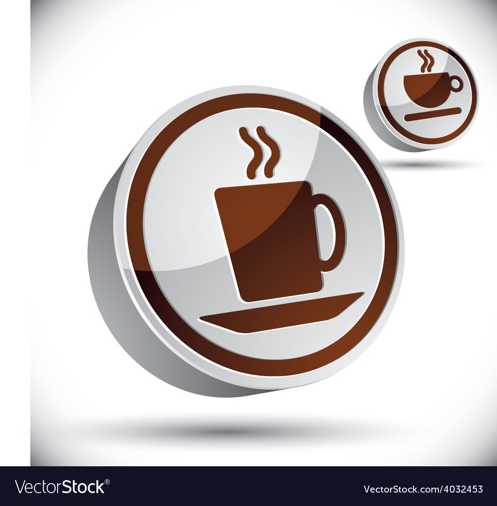 Tea and coffee cups icons vector | Price: 1 Credit (USD $1)