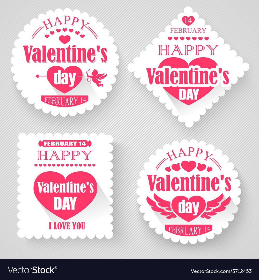 Valentines day banners vector | Price: 1 Credit (USD $1)