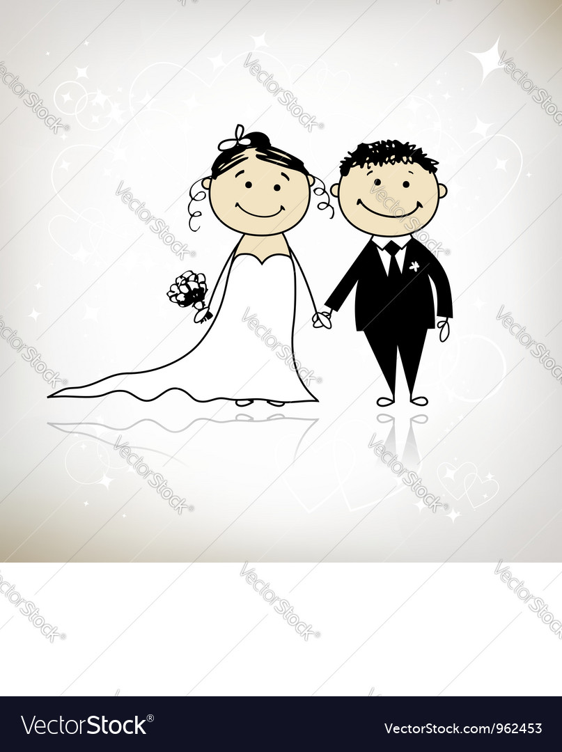 Wedding ceremony - bride and groom together vector | Price: 1 Credit (USD $1)