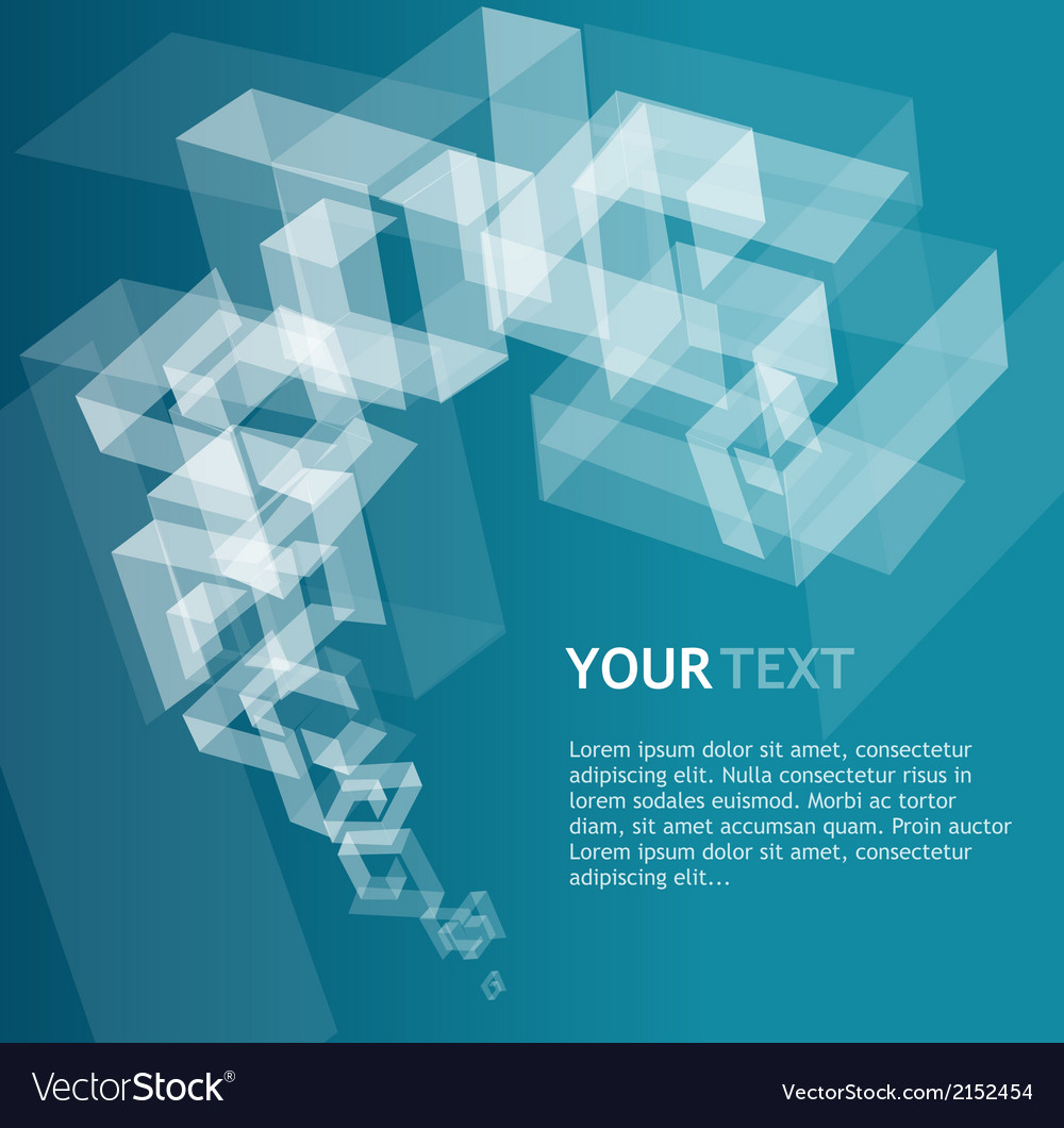 Abstract geometric template for text vector | Price: 1 Credit (USD $1)