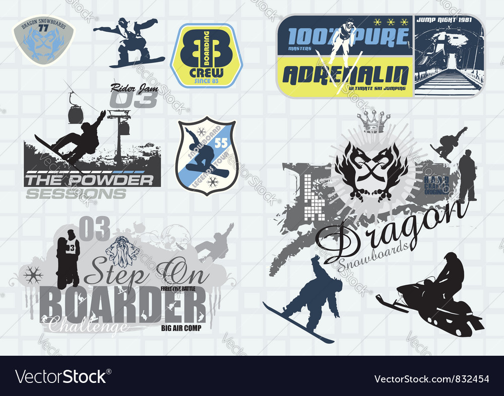 All winter sports vector | Price: 1 Credit (USD $1)