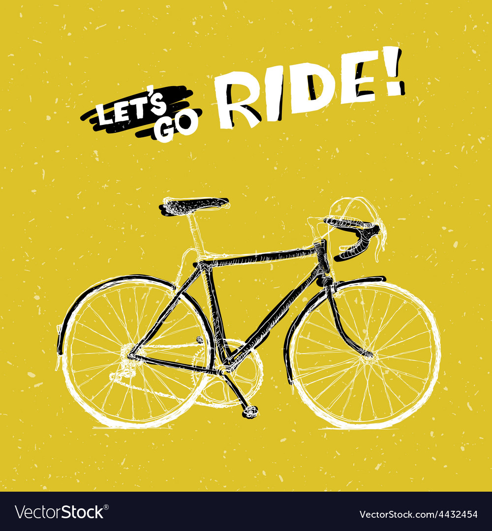 Bicycle yellow poster vector | Price: 1 Credit (USD $1)