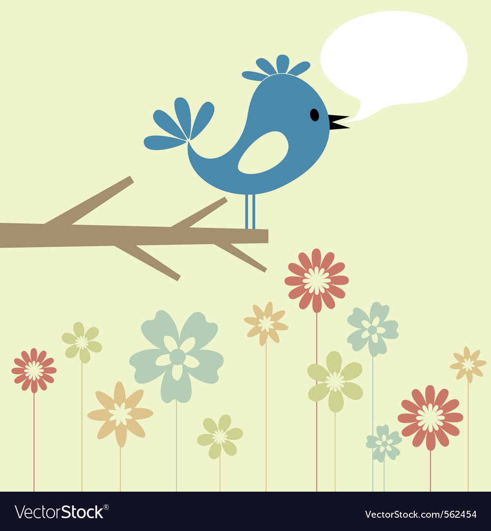 Birdie branch vector | Price: 1 Credit (USD $1)