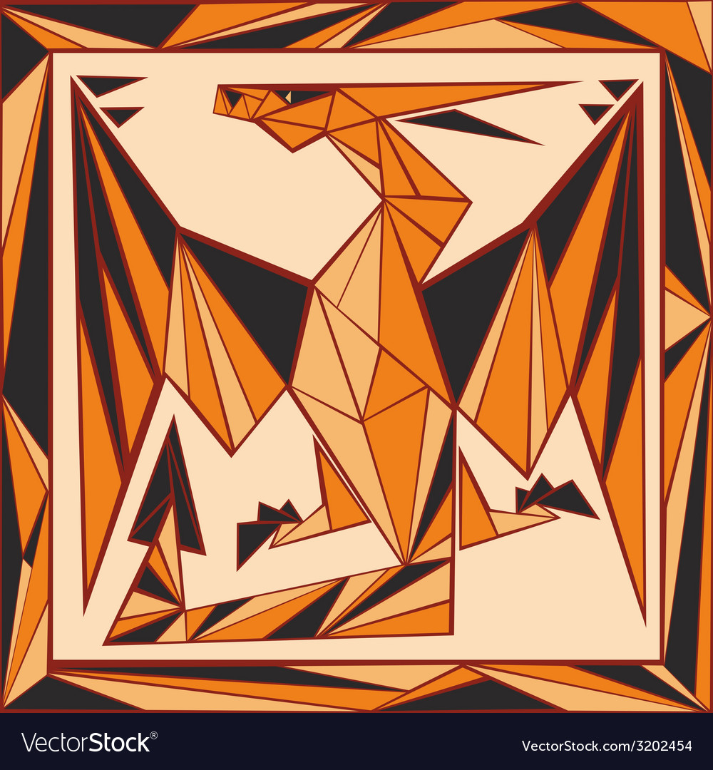 Chinese horoscope stylized stained glass dragon vector | Price: 1 Credit (USD $1)
