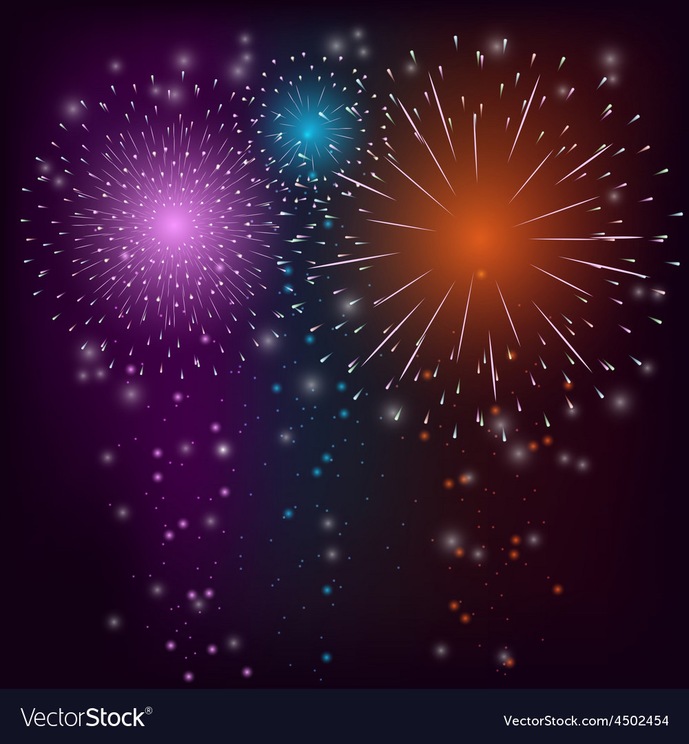 Firework colorful background vector | Price: 1 Credit (USD $1)