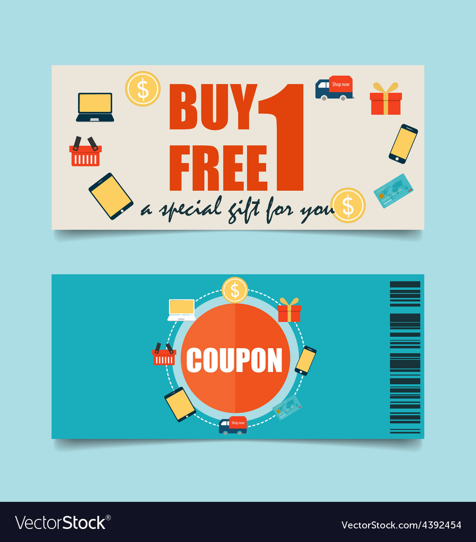 Gift coupons with business concept infographics vector | Price: 1 Credit (USD $1)
