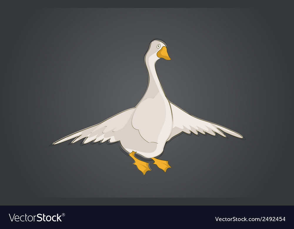 Graphical goose vector | Price: 1 Credit (USD $1)