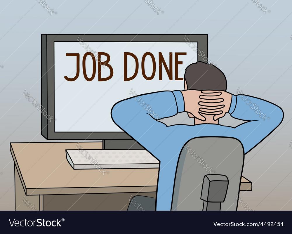 Job done vector | Price: 1 Credit (USD $1)
