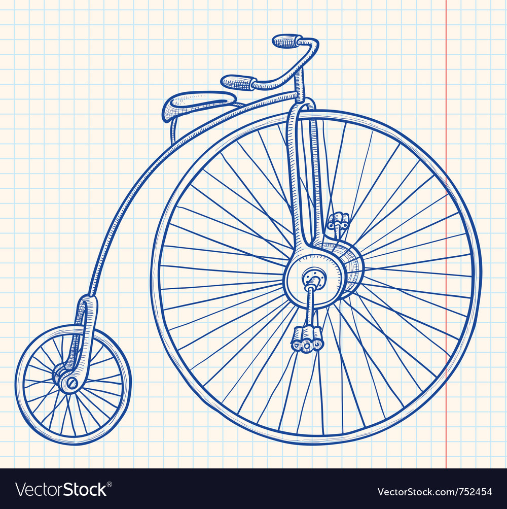 Retro-styled bicycle vector | Price: 1 Credit (USD $1)