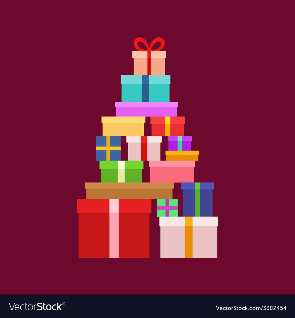 Stack of christmas boxes vector | Price: 1 Credit (USD $1)