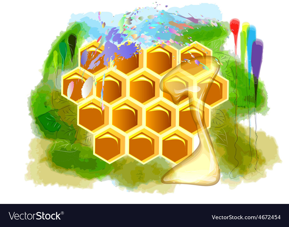 Summer honey vector | Price: 1 Credit (USD $1)