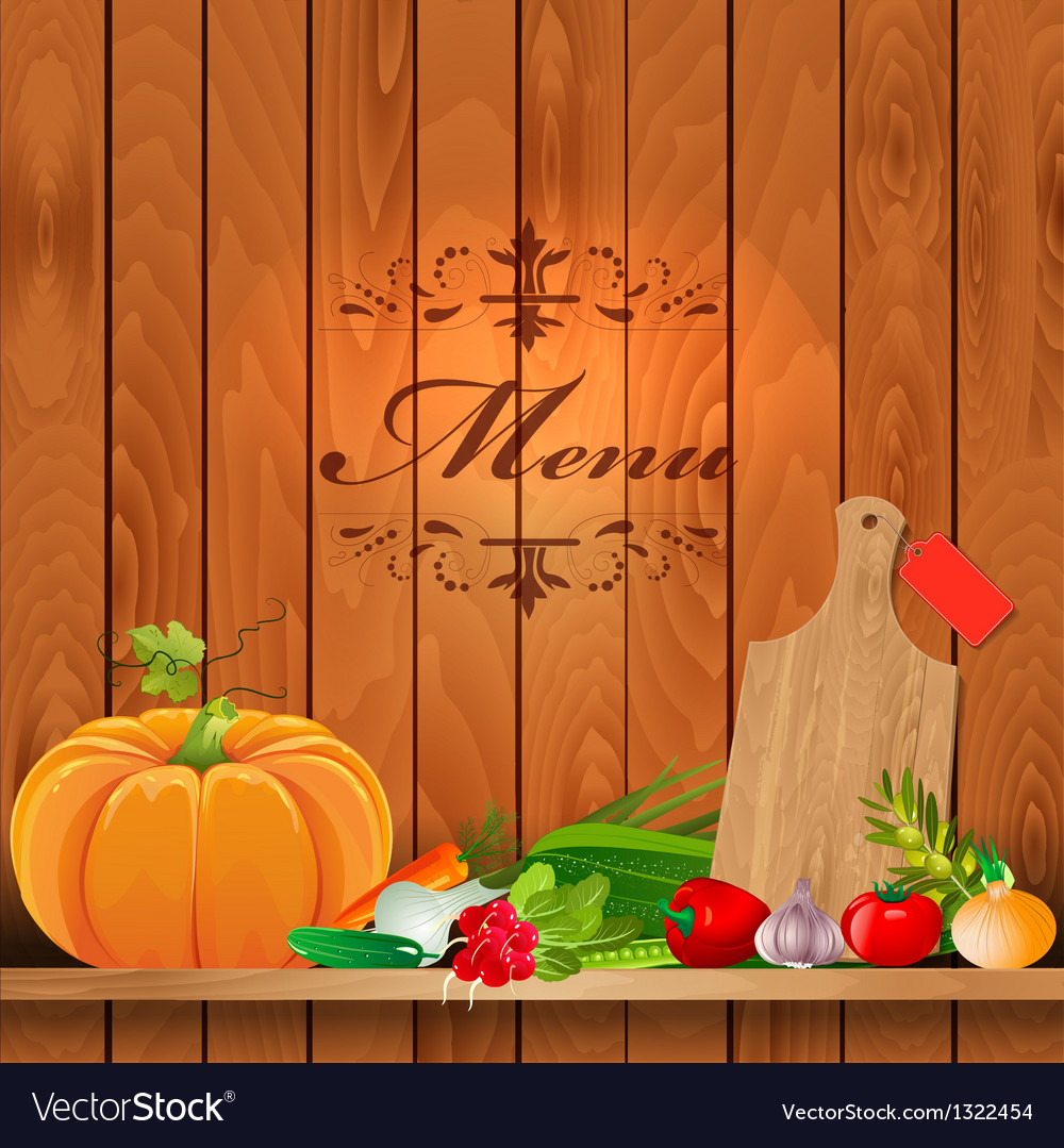 Vegetables shelf menu vector | Price: 1 Credit (USD $1)