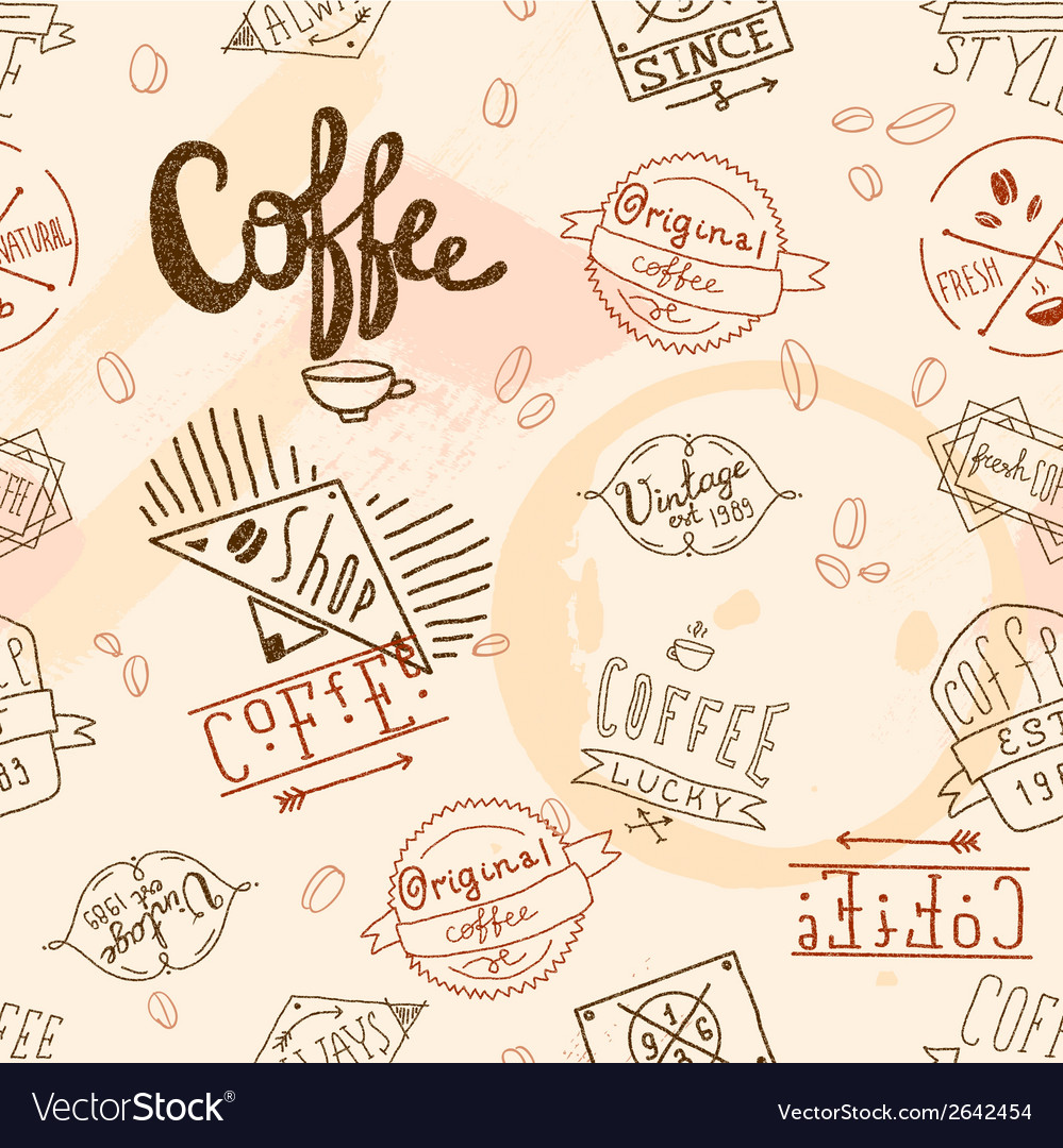 Vintage retro coffee seamless vector | Price: 1 Credit (USD $1)