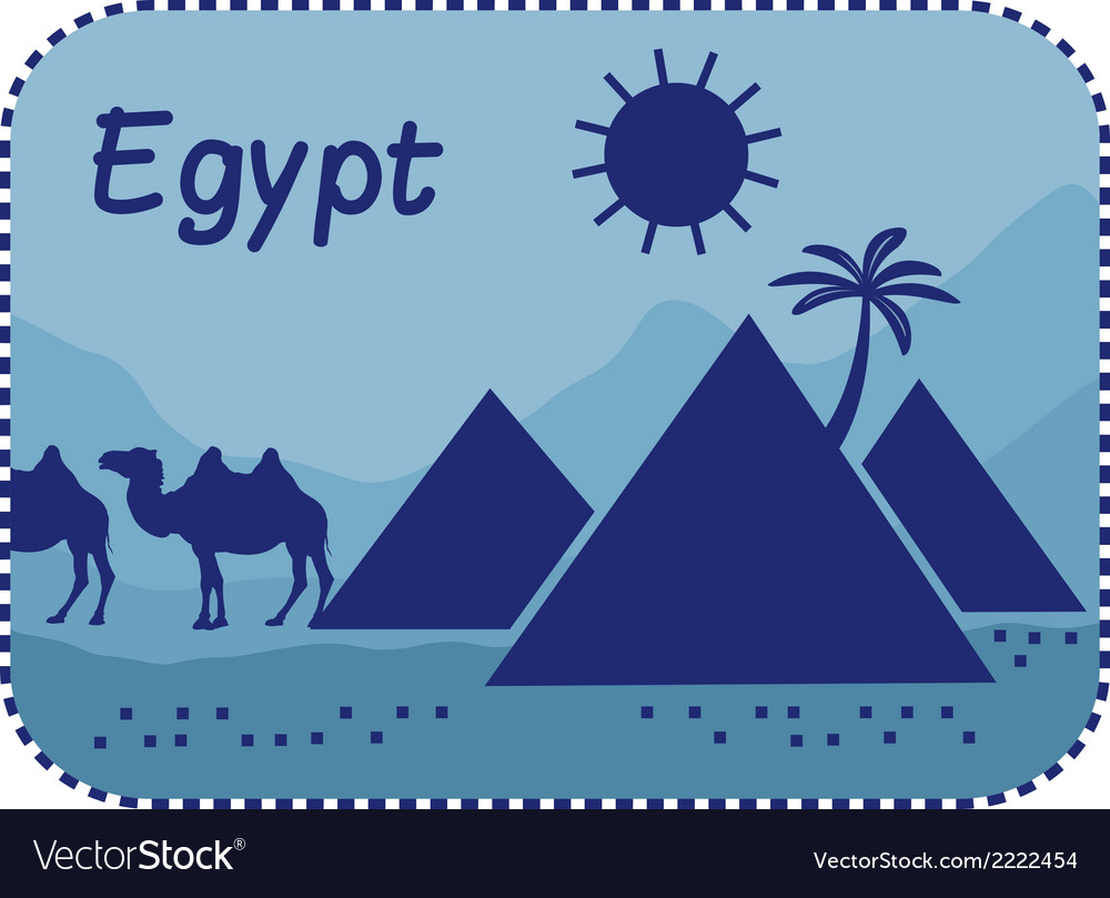 With pyramids in egypt vector | Price: 1 Credit (USD $1)