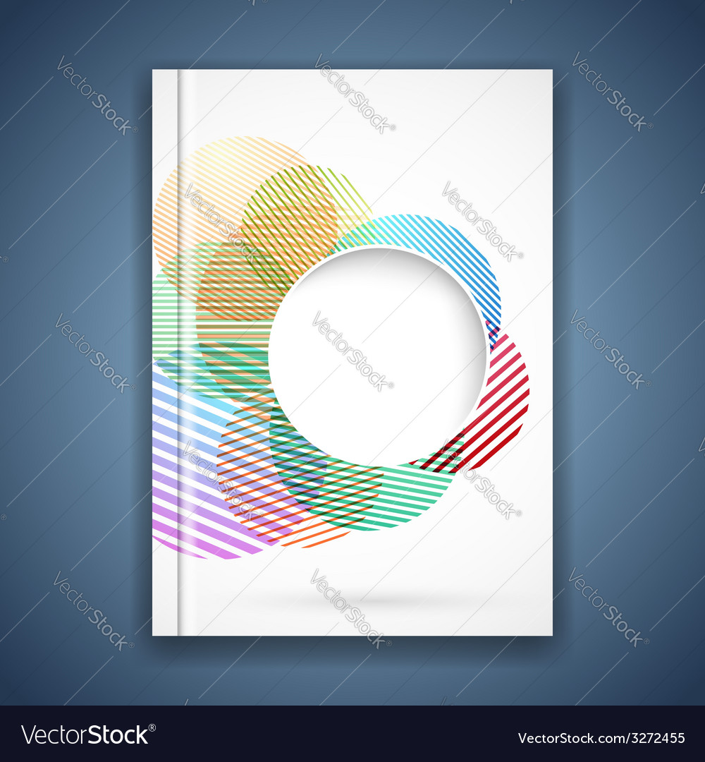 Bright colorful circle notebook cover template vector | Price: 1 Credit (USD $1)