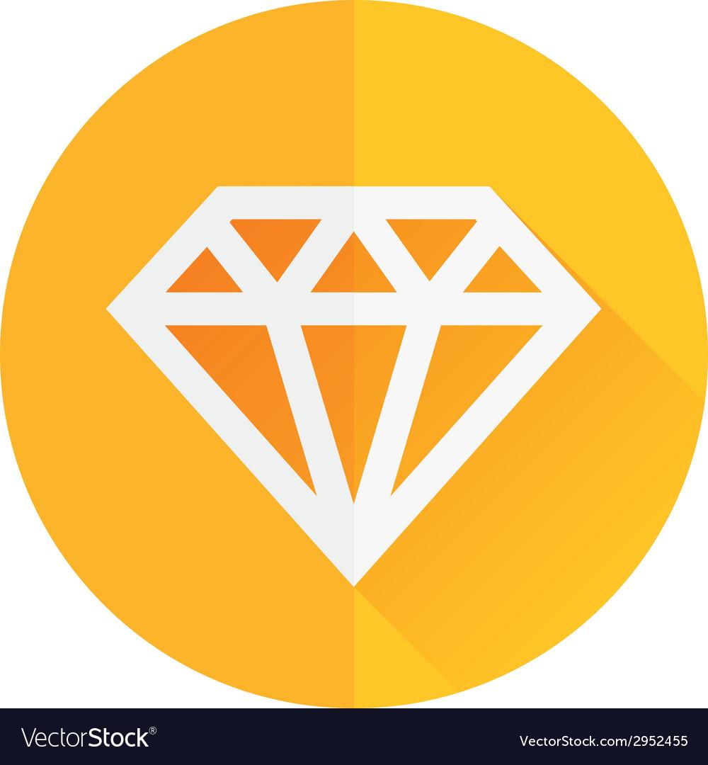 Diamond flat icon vector | Price: 1 Credit (USD $1)