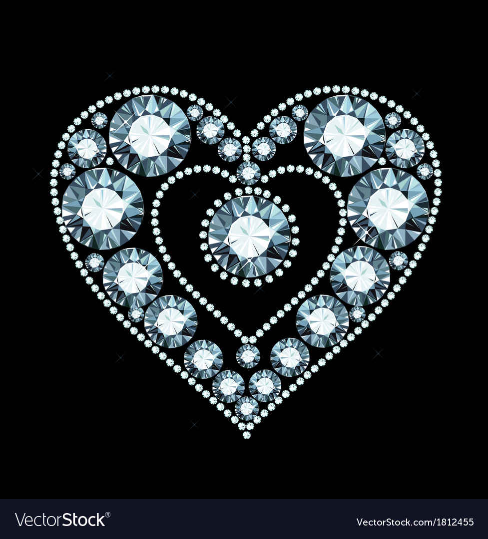 Diamond heart vector | Price: 1 Credit (USD $1)