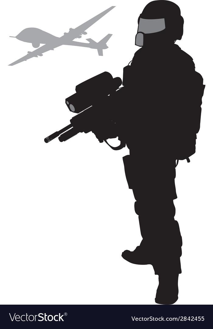 Future soldier vector | Price: 1 Credit (USD $1)