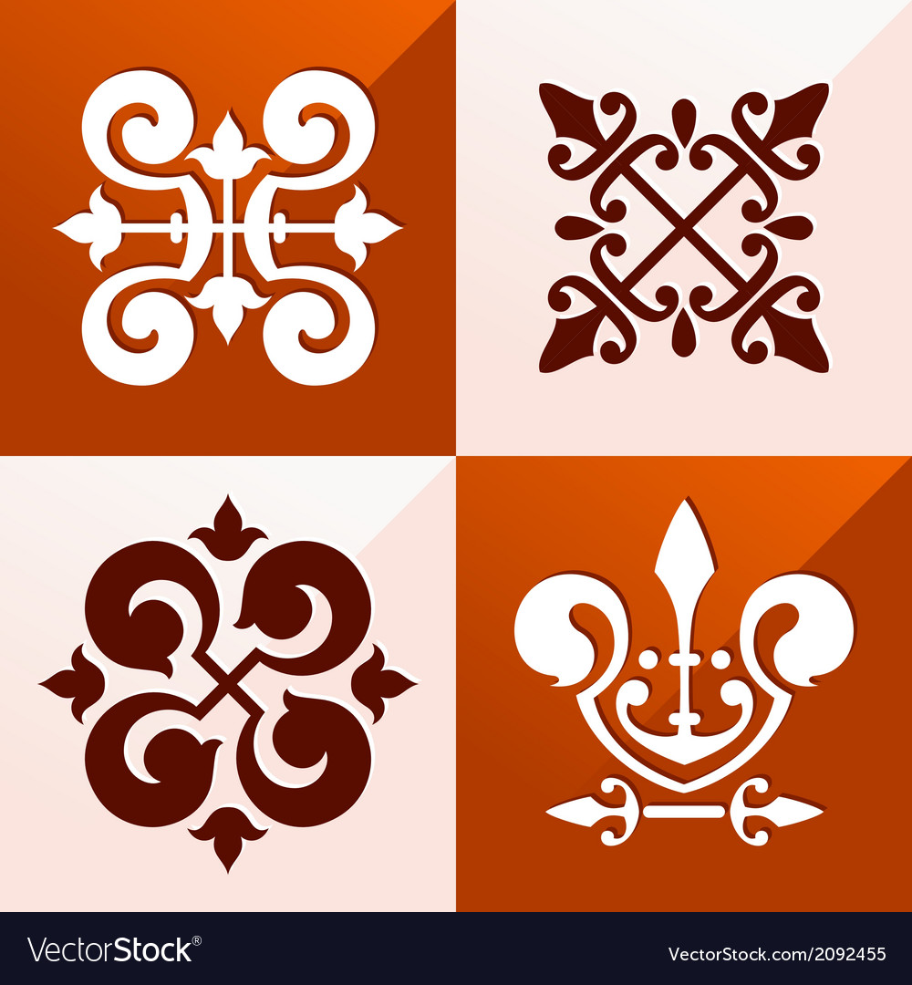 Medieval emblem ornament vector | Price: 1 Credit (USD $1)