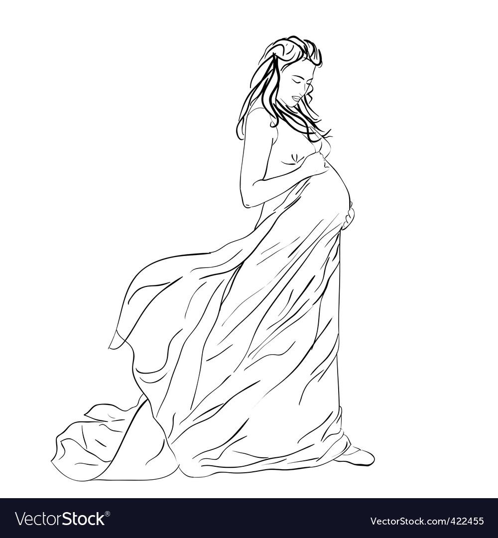 Pregnant woman vector   Price: 1 Credit (USD $1)