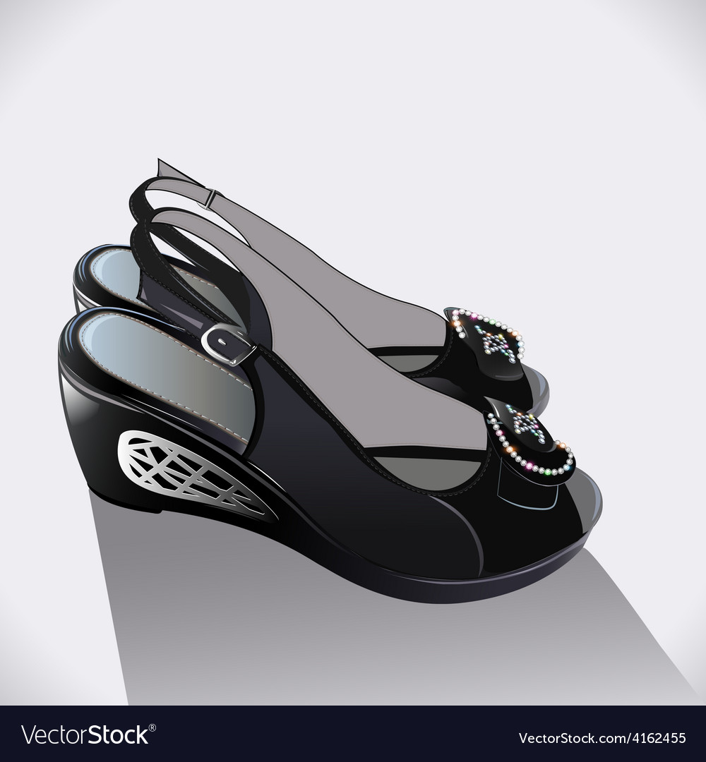 Shoes black patent leather vector | Price: 1 Credit (USD $1)