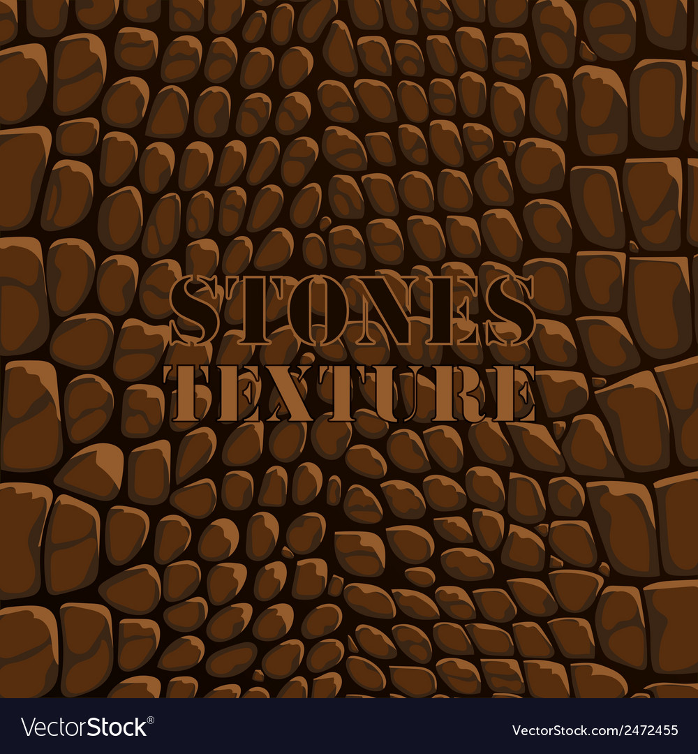 Stones texture brown vector | Price: 1 Credit (USD $1)