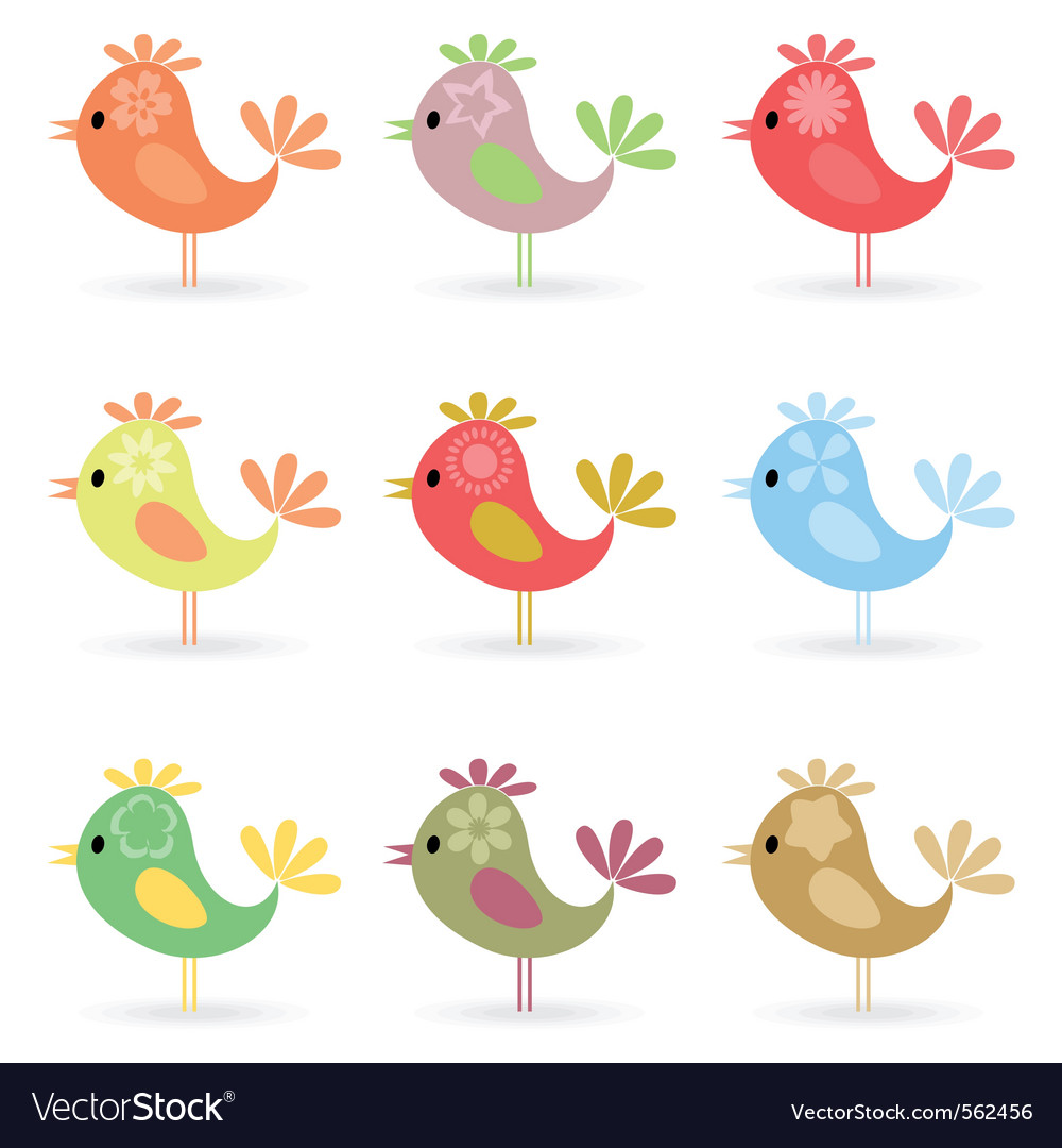 Cheerful birdies vector | Price: 1 Credit (USD $1)