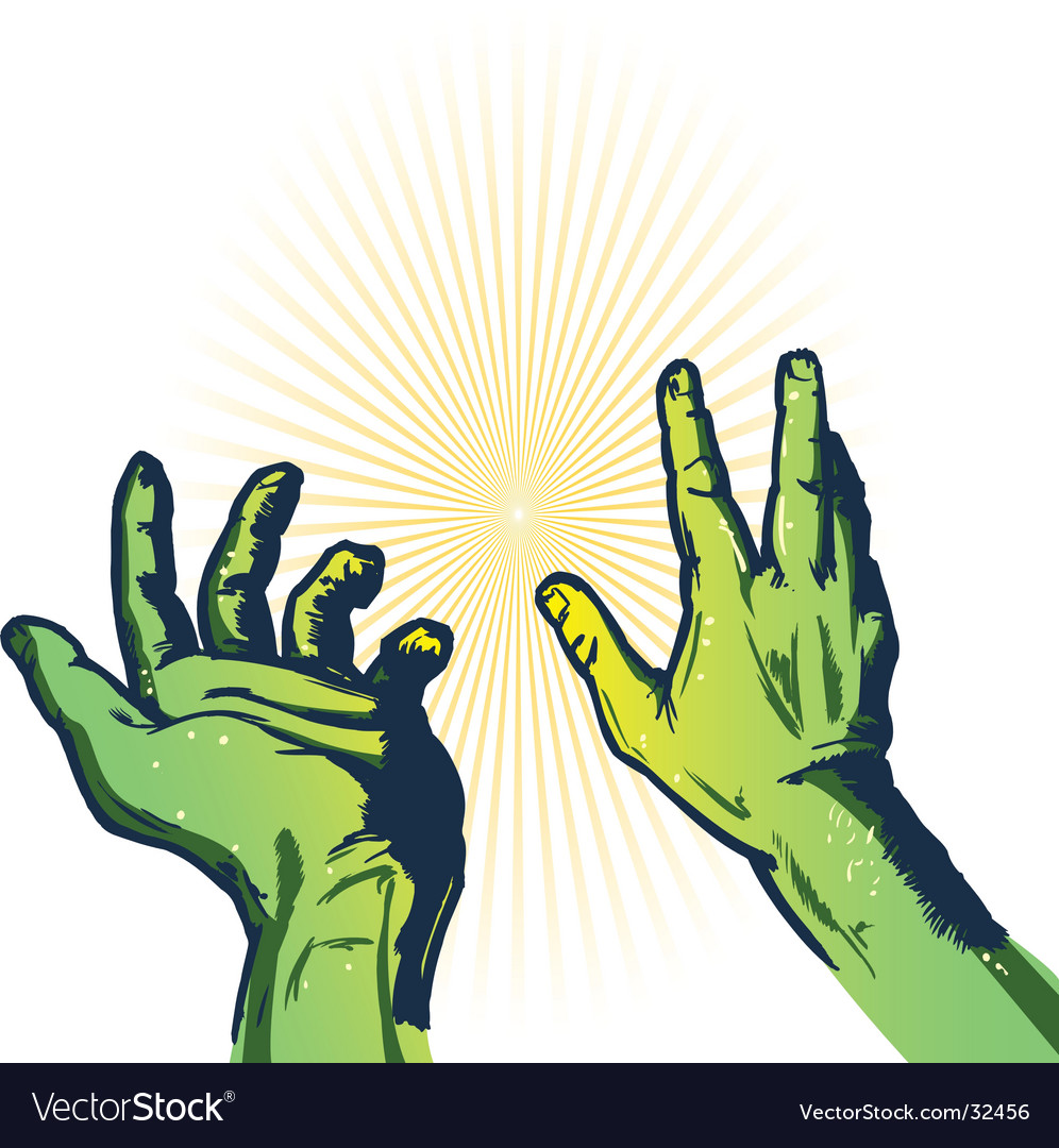 Hands of fear illustration vector | Price: 1 Credit (USD $1)