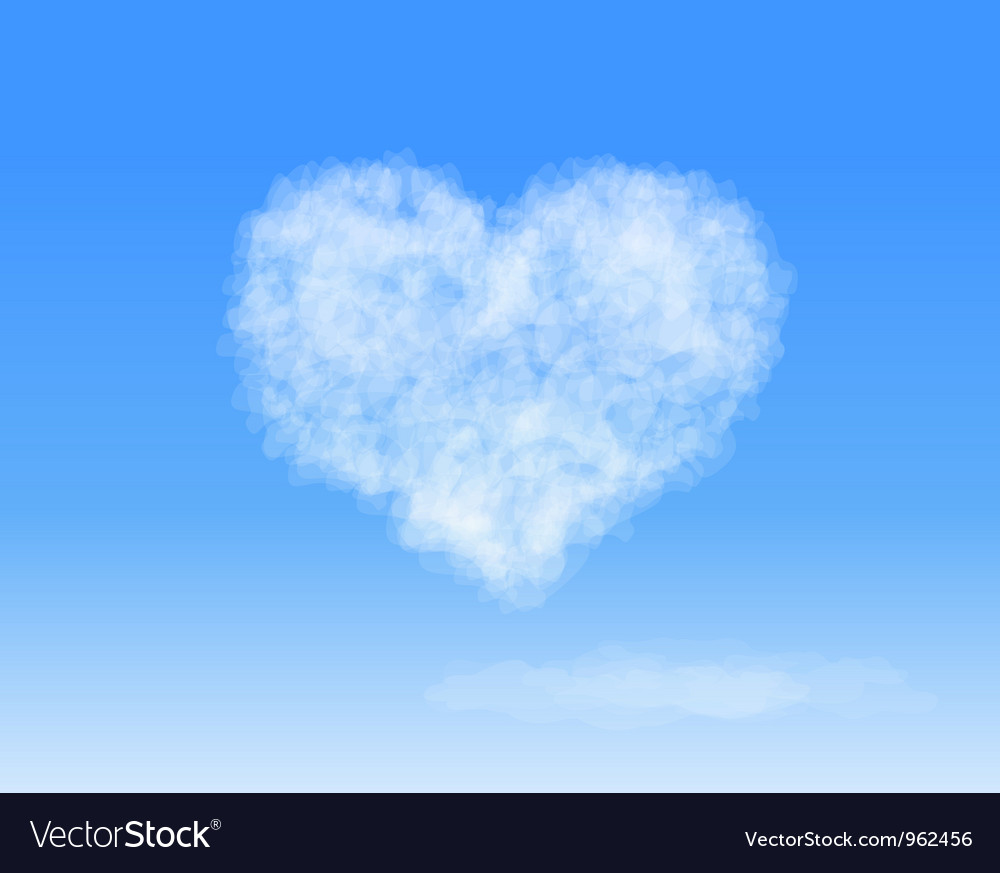 Heart cloud vector | Price: 1 Credit (USD $1)