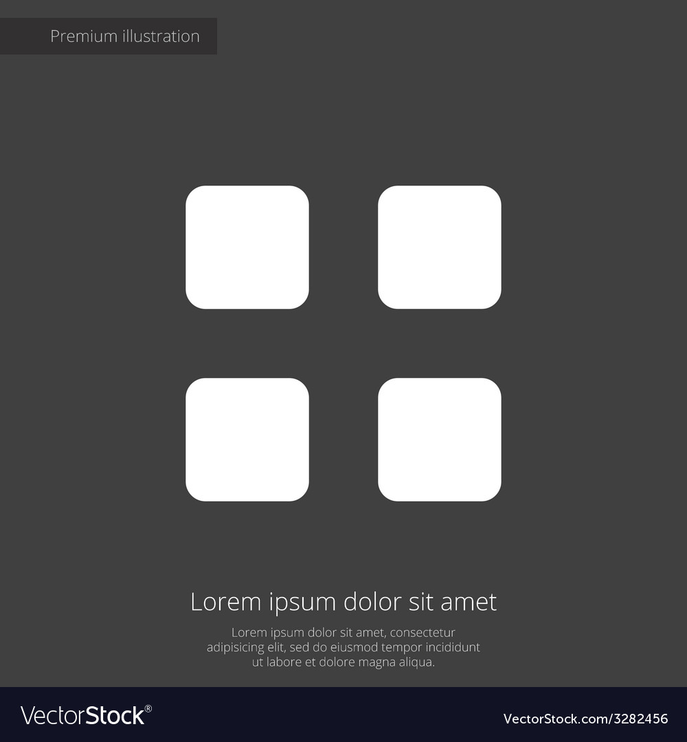 List premium icon white on dark background vector | Price: 1 Credit (USD $1)