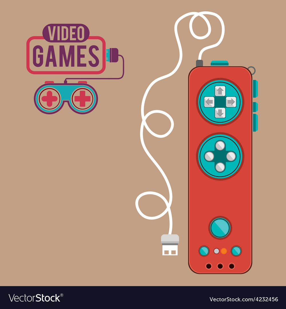 Video games design vector | Price: 1 Credit (USD $1)