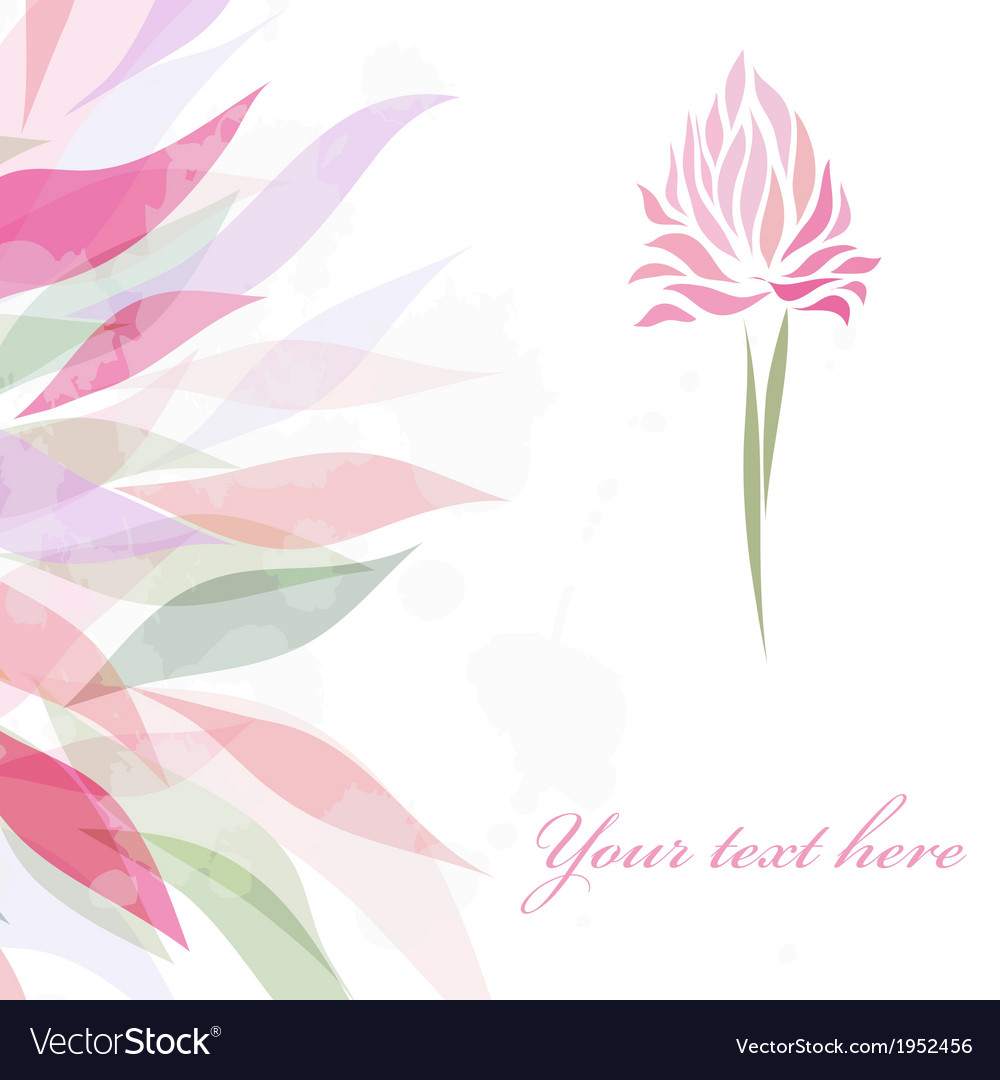 Vintage retro flower blossom vector | Price: 1 Credit (USD $1)
