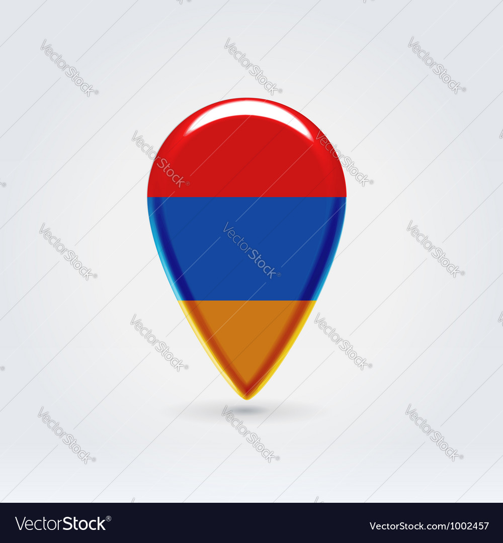 Armenian icon point for map vector | Price:  Credit (USD $)