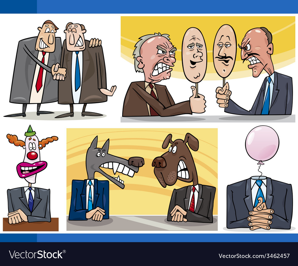 Cartoon politics concepts set vector | Price: 3 Credit (USD $3)