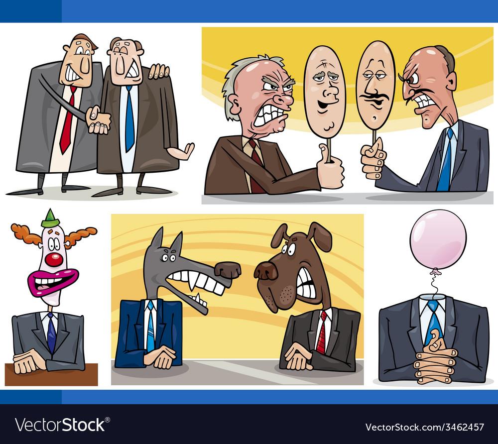 Cartoon politics concepts set vector | Price: 3 Credit (USD $3)